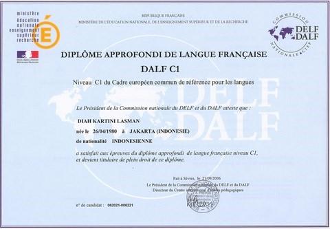 DALF C1: advanced French studies diploma level C1