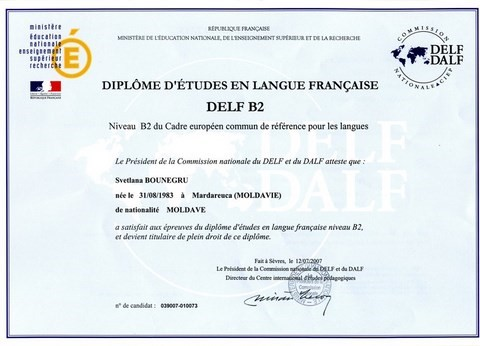 DELF B2: French studies diploma level B2
